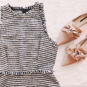 {zara} tweed classic dress